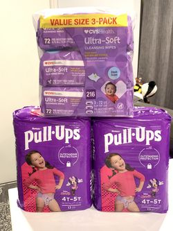 Huggies Pull Ups Size 4-5 + Wipes. $20 for All for Sale in Lawndale,  CA