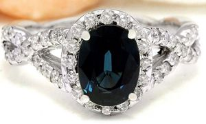2.80 CTW Sapphire + Diamond 14k White Gold Ring (Value: $4,520) for Sale in San Mateo, CA