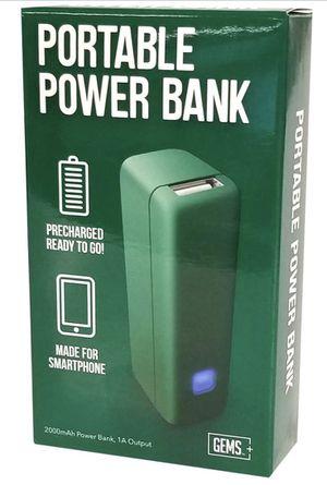 Gems 2000 mAH Power Bank Green 5V 1.0 Amp USB for Sale in Manassas, VA