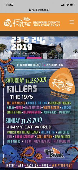 GA Ticket to Riptide Music Festival for Sale in Tampa, FL