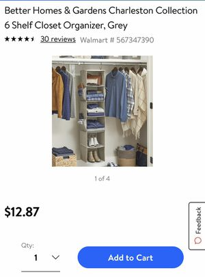 Hanging Closet Organizer for Sale in Glendale, AZ