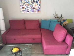 Cool funky modern contemporary sectional sofa sleeper couch for Sale in North Bay Village, FL
