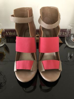 Rachel Roy tan and pink heels for Sale in Pittsburgh, PA