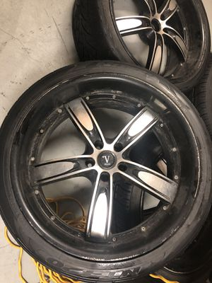22 with tires honda pilot rims 5x120 acura mdx..! for Sale in Washington, DC