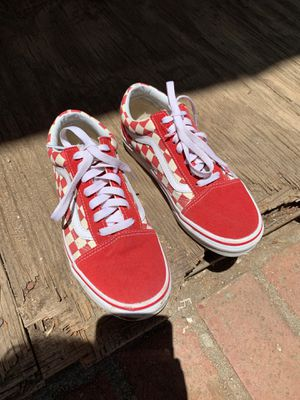 Vans for sale , only used once , like new size 4.5 in men and 6.0 in women for Sale in Los Angeles, CA