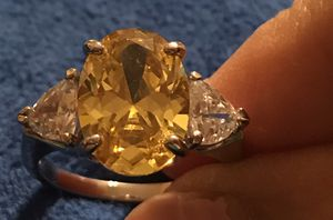 STERLING SILVER CITRINE CZ RING for Sale in Pueblo West, CO