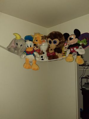 Stuffed animals. Some from Disney. Nicely and cleanly kept. for Sale in Moreno Valley, CA