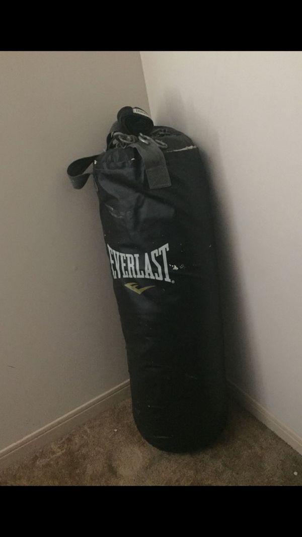 Everlast Punching Bag & Kettle Bell