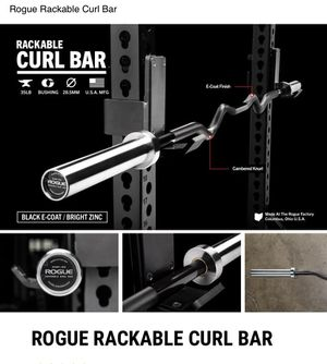 Rogue Fitness Rackable Curl Bar for Sale in Plainfield, IL