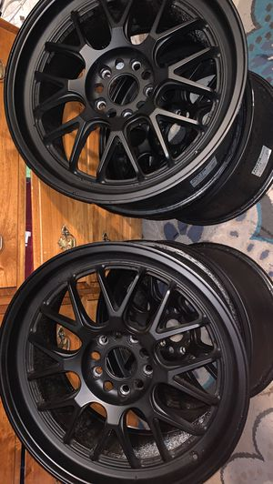 Black Rota wheels🔥 Size: 18x8.5 +12 5x114.3 for Sale in Union City, CA