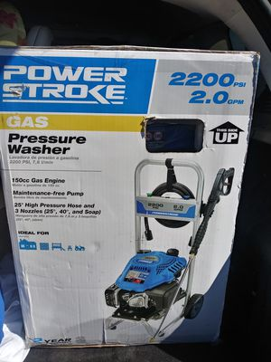 Gas based Powerstroke pressure washer 220p psi for Sale in Austin, TX