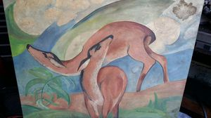 Mother Deer and Fawn Painting for Sale in San Leandro, CA