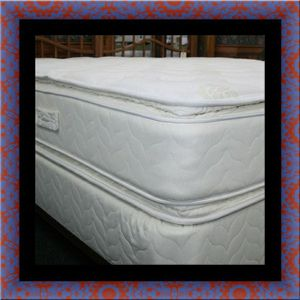 Twin mattress double pillow top with box spring for Sale in Washington, DC