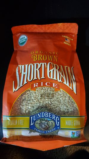 Lundberg organic brown short grain rice best before February 2021 1 / 2 lb bag $2 for Sale in San Diego, CA
