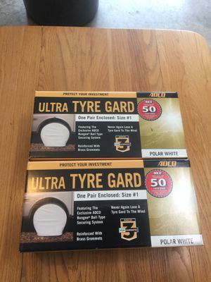 """ADCO Tire Guards for up to 19.5"""" Tires. New in Box 2 Pair $20 each pair for Sale in Tumwater, WA"""