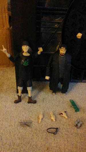 Jay and silent bob figures with attachments for Sale in Cleveland, OH