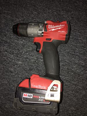 Milwaukee m18 fuel one-key hammer drill, Battery, And Charger for Sale in Lowell, MA