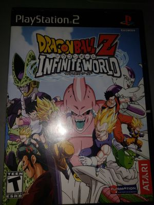 Dragon ball z infinite world ps2 for Sale in Fort Worth, TX