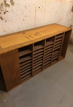 Organized side desk in hardwood for Sale in New Castle,  DE