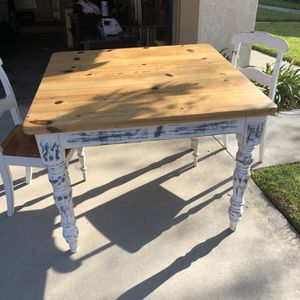42 x 42 x 32 Height Table and two chairs for Sale in Huntington Beach, CA