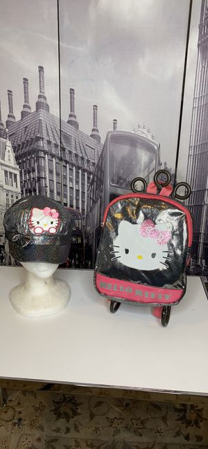 Hello kitty backpack and cap for Sale in Salt Lake City, UT