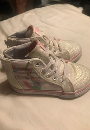 Unicorn vans size 7 for toddlers. for Sale in Whiteriver, AZ