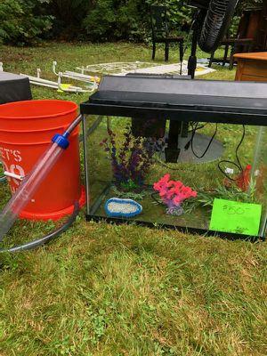 20g Aquarium w/ Decor, Light, Siphon, Filter for Sale in Lake Stevens, WA