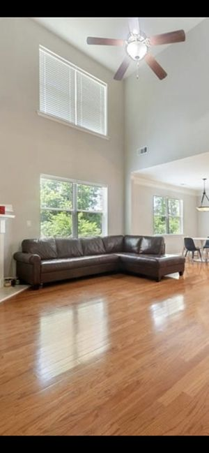 Leather Couch Sectional for Sale in Acworth, GA