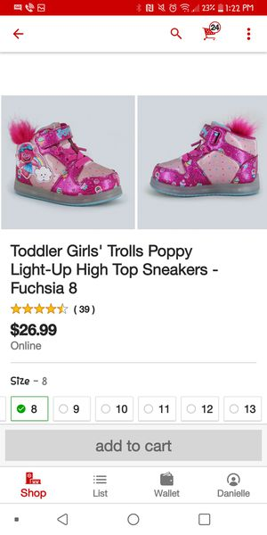 Toddler troll shoes size 8 new for Sale in Ontario, CA