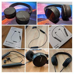 4 different Sony headphones bundle for Sale in Voorhees Township, NJ