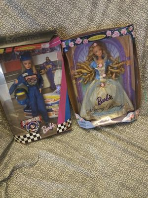 Nascar barbie and sleeping beauty for Sale in Saint Petersburg, FL