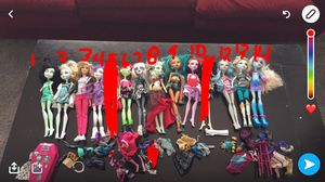 Monster high dolls and Barbie for Sale in Ontario, CA