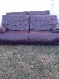 Leather Recliner Sofas Have Two Will Sell Single for Sale in Columbus,  OH