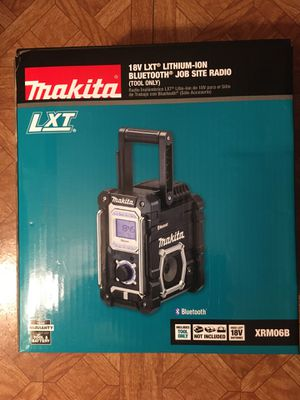 Makita. 18V LXT Lithium Ion Cordless Jobsite Bluetooth Radio (Tool Only). XRM06B. for Sale in Brooklyn, NY