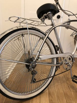 All chrome lowrider beach cruiser bike bicycle for Sale in Los Angeles, CA