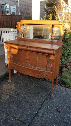 Antique mirrored buffet for Sale in Bonney Lake, WA
