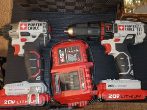 New condition Porter Cable impact driver and hammer drill set for Sale in Waldorf, MD