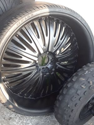 26 inch rims and tires for Sale in Port St. Lucie, FL