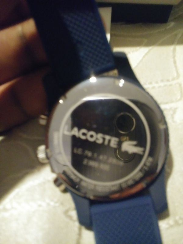 Branew lacoste watch blue 100% authentic