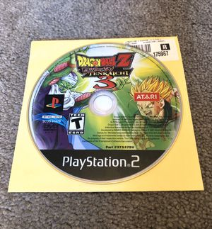 DBZ Budokai Tenkaichi 3 Ps2 Video Game Playstation 2 Fighting Dragon Ball Z for Sale in Riverside, CA