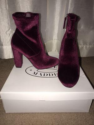 Suede red velvet heels for Sale in Herndon, VA