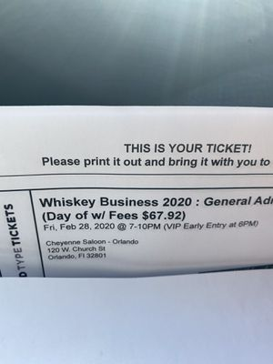 !!!!!!!!two for one tickets unlimited drinks!!!!!!!!!!!! for Sale in Haines City, FL