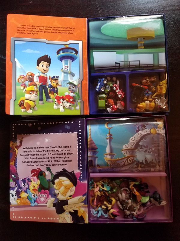 New paw patrol and my little pony busy books