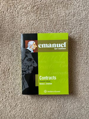 Emanuel Law Outlines, Contracts, Eleventh Edition for Sale in Lynchburg, VA
