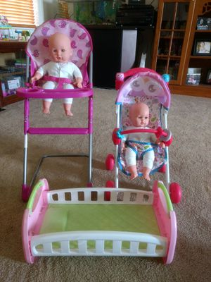 Dolls and Accessories for Sale in Willow Spring, NC