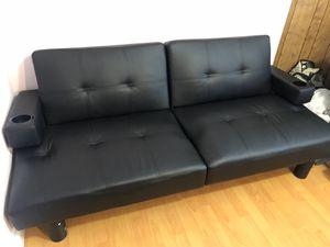 Leather Futon for Sale in Santa Clara, CA
