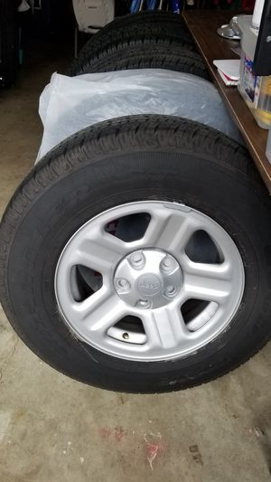 TIRES 225/75 R16 set of 5 with rims(4 plus full size unused spare) for Sale in Beaverton, OR