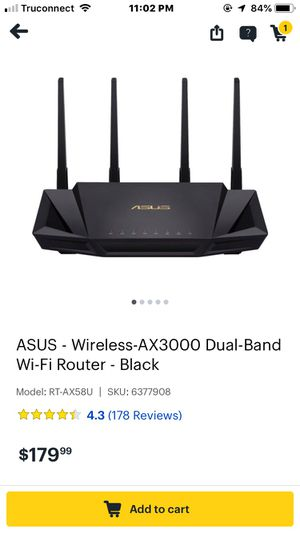 ASUS wireless WiFi router new for Sale in La Puente, CA