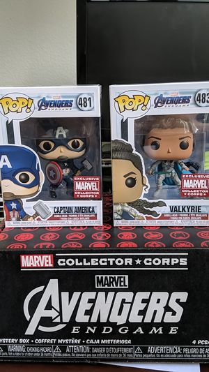Captain America with Mjolnir and Valkyrie Marvel Collector Corps Exclusives for Sale in Sanford, FL