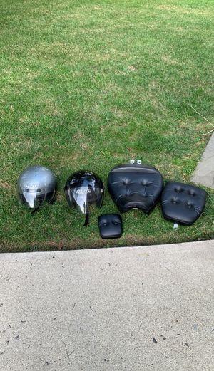 2 HJC Motorcycle helmets and Suzuki Intruder 1400 seats for Sale in Burke, VA